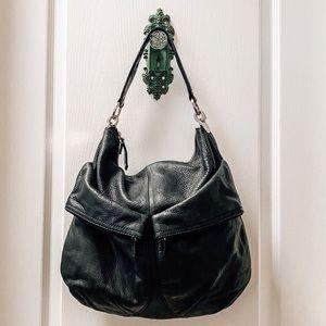 Ann Taylor Loft Black Leather Purse